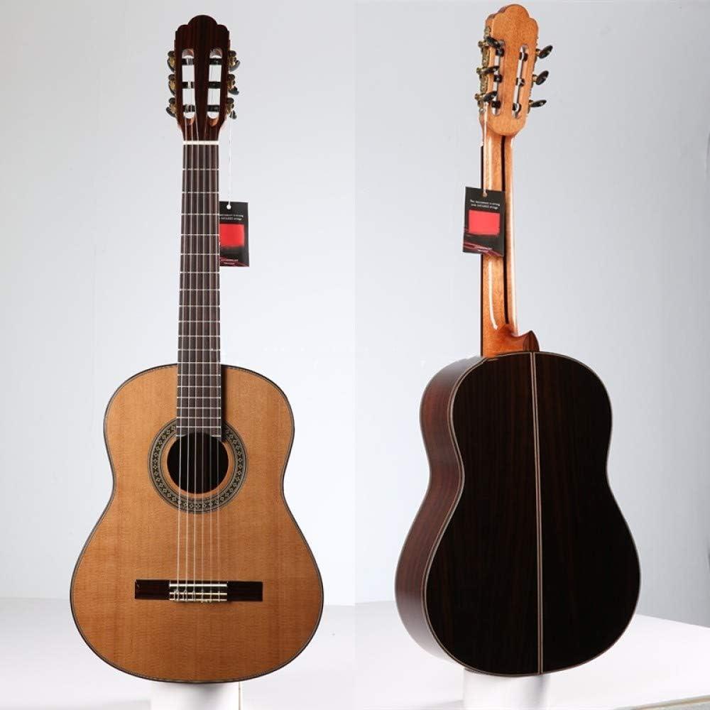 LOIKHGV Guitarras- 36 Guitarra Hecha a Mano, Guitarras acústicas de Cedro/Palo de Rosa Macizo, Guitarra clásica con Cuerda de Nylon, 36 Pulgadas