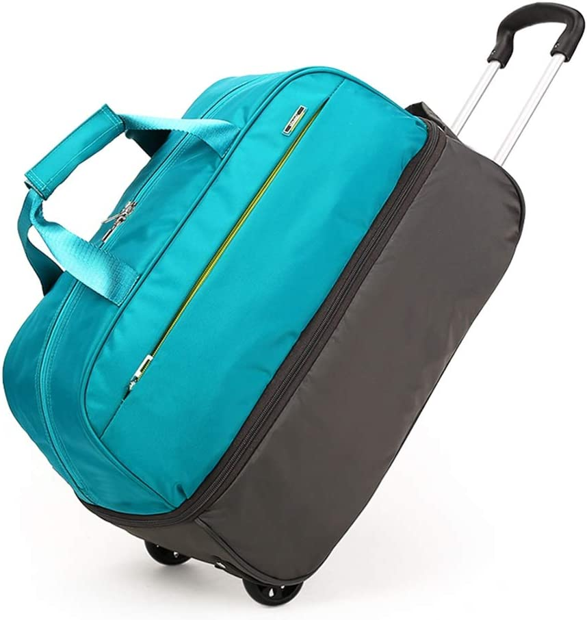 Color : Green-L Travel Bags Trolley Case Light Waterproof Boarding Portable Luggage Suitcases Carry On Hand Luggage Durable Hold Tingting