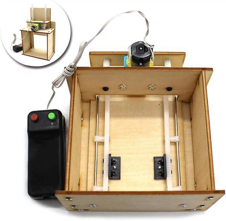 Puerta del elevador de madera, bricolaje elevación hecho por sí mismo modelo de garaje eléctrico de la puerta kit de tecnología juguete para mayores de 14 años