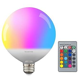 Cambia de Color luz bombillas LED 10 W bayoneta B22 intensidad regulable, globo de luces tausende ...