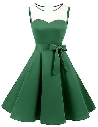 prix de liquidation invaincu x 2019 professionnel Bridesmay Robe Vintage rétro Audrey Hepburn années 50 Rockabilly sans  Manches