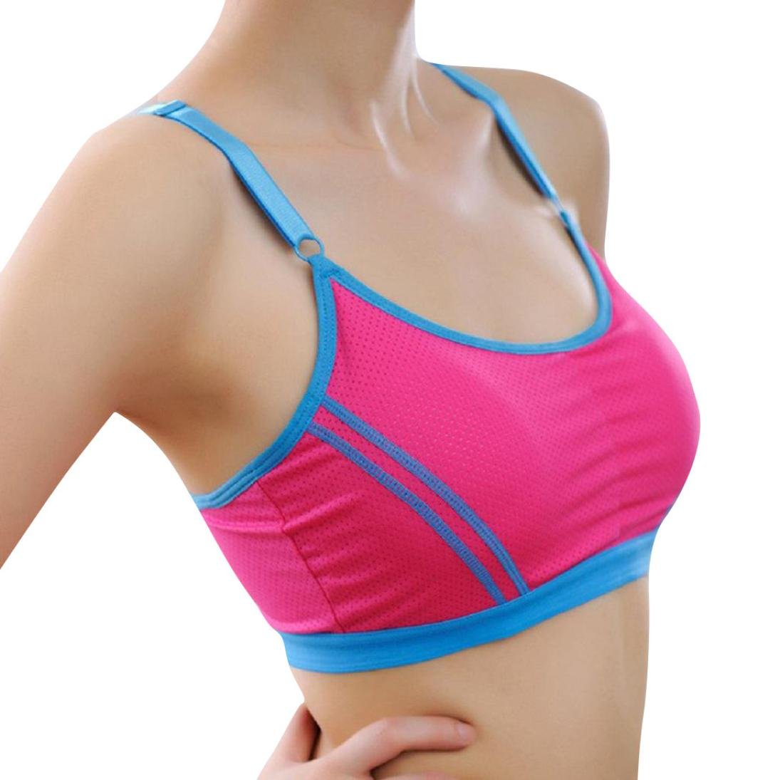 BCDshop Women Sports Yoga Bra Crop Tops Wrap Lady Chest Strap Camisole Activewear