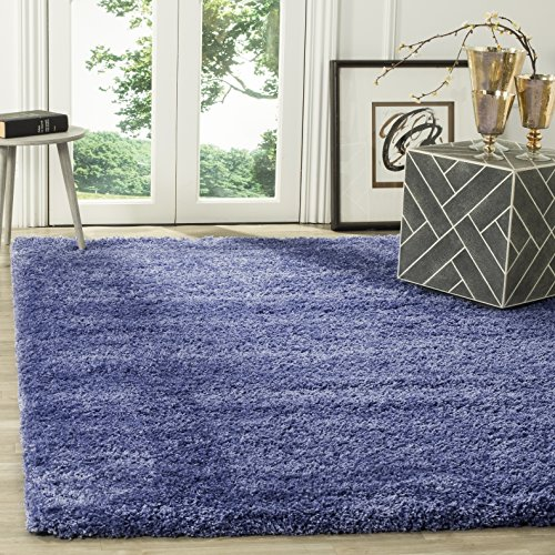 Safavieh California Shag Collection SG151-7171 Periwinkle Area Rug (4' x 6') (Periwinkle Home Decor Fabric)
