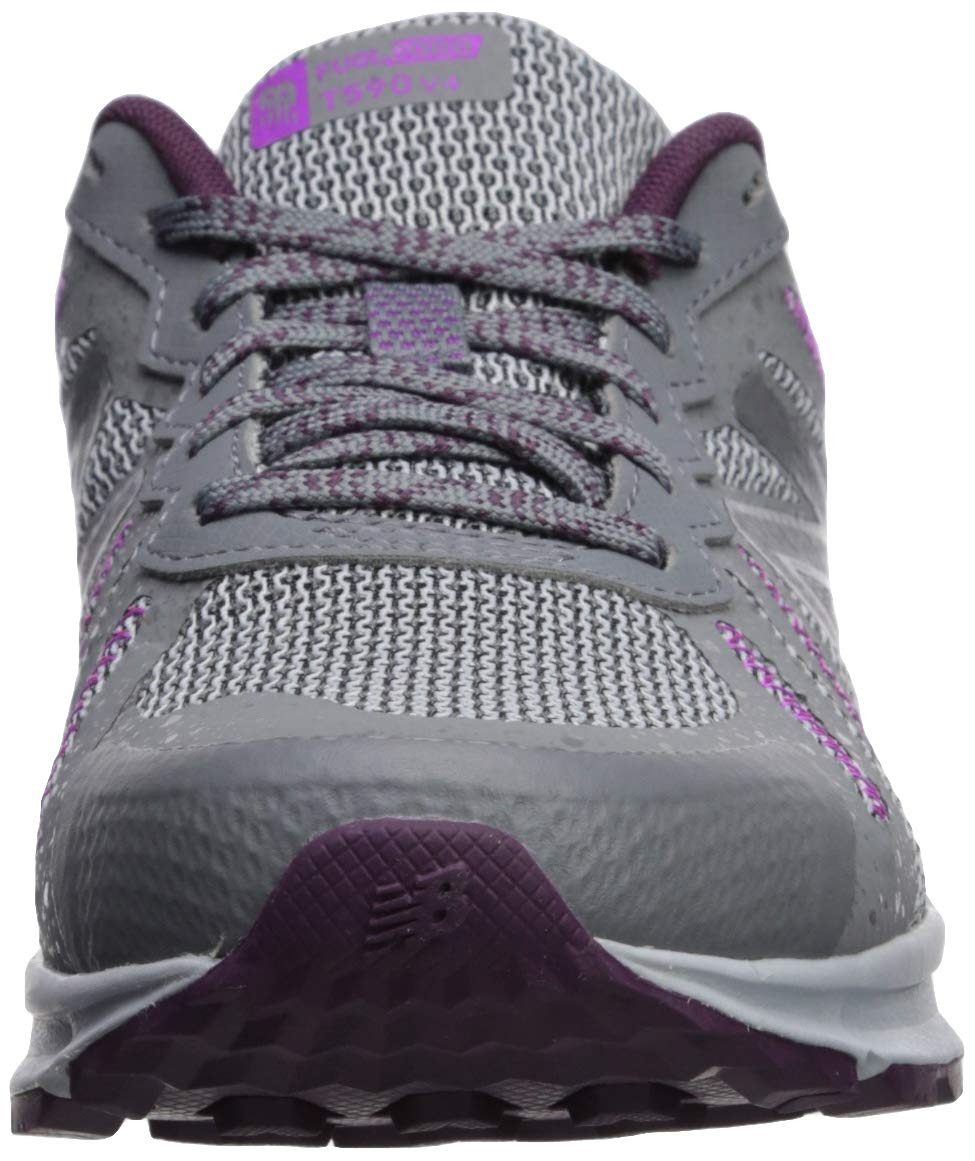 New Balance Women's 590v4 FuelCore Trail Running Shoe, Gunmetal/Dark Current/Voltage Violet, 5 B US by New Balance (Image #4)