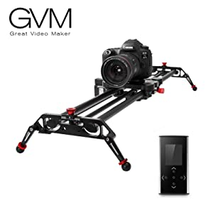 """Camera Slider Track Dolly Slider Rail System with Motorized Time Lapse and Video Shot Follow Focus Shot and 120 Degree Panoramic Shooting 31"""" 80cm"""