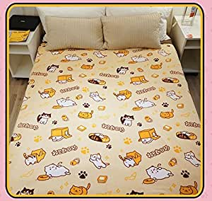Amazon Com 80x60 Quot Japanese Game Neko Atsume ねこあつめ Cute