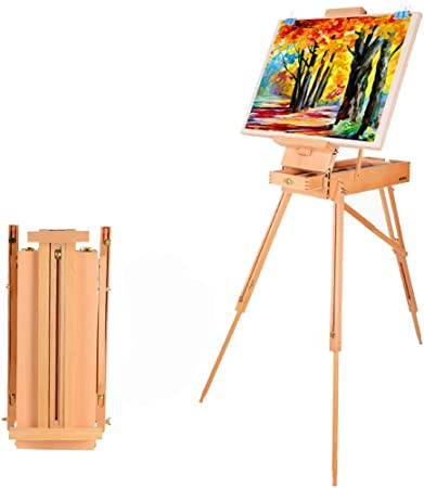 PingFanMi Caballete de madera maciza plegable estante portátil ...