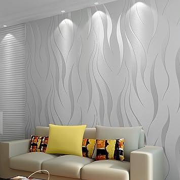 3d Textured Wallpaper Modern Wallpaper 10m Non Woven Flocking Bronzing Wallpaper Roll