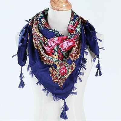 cfbd1037fed7 Hunpta Mode Femme carré Tête Écharpe Wraps écharpes pour femmes Imprimé  foulards de cou
