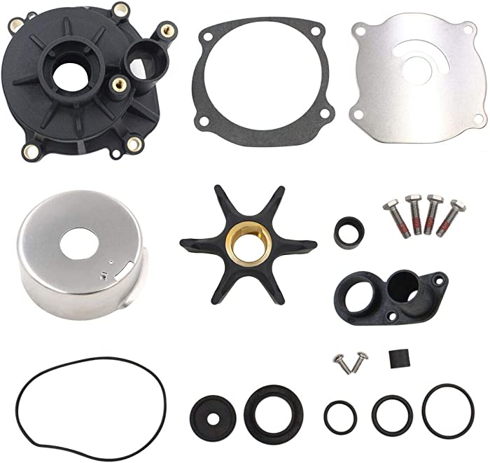 UANOFCN Water Pump Repair Kit Replacement with Housing for Johnson Evinrude V4 V6 V8 85-300HP Outboard Motor Parts 5001594