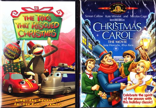 The Toys That Rescued Christmas , Christmas Carol Animated Movie : Childrens Christmas 2 Pack Looney Tunes Show Christmas Carol