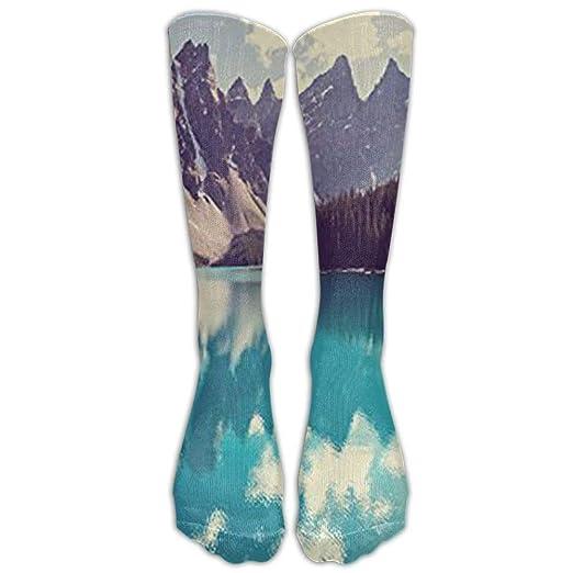 Amazon Com Long Moraine Lake In Banff National Park Socks