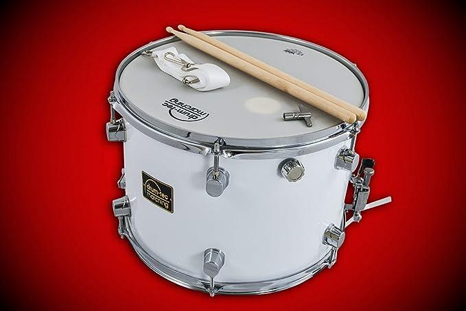 drum-tec Marching Caja para marcha con accesorios, 35 x 25 cm, con parche de piel Remo Ambassador (Modelo: MSC-14B): Amazon.es: Instrumentos musicales