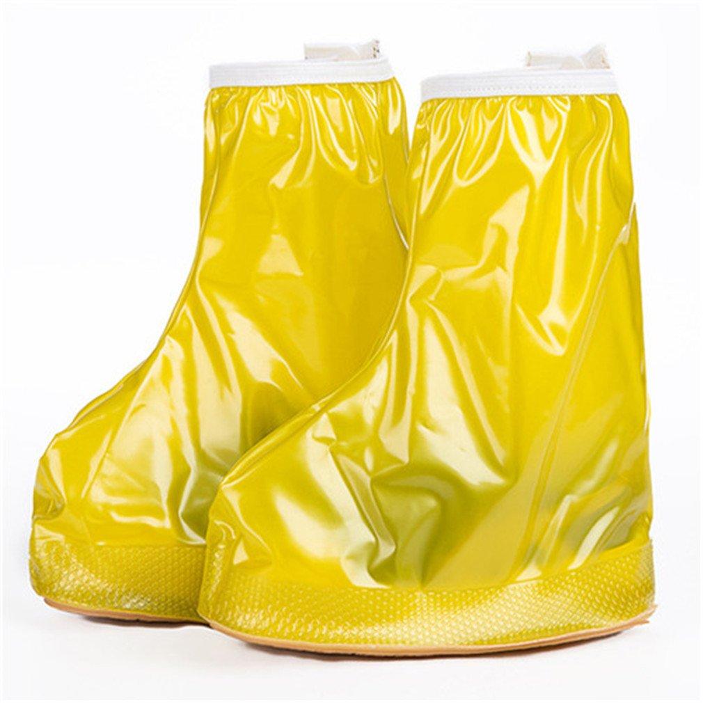 Waterproof Rain Cover Shoes Covers Boys Girl's Reusable Anti-Slip Shoe Cover Yellow M