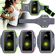 LG G3 Sports Armband, Green GBOS Sweat-Free,Gym,Running,Jogging,Walking,Hiking,Workout and Exercise Armband For LG G3 with Extra Adjustable-Length Extension Band