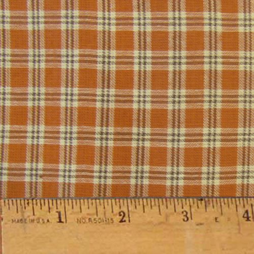 Pumpkin Spice 4 Autumn Homespun Cotton Plaid Fabric by JCS - Sold by The -