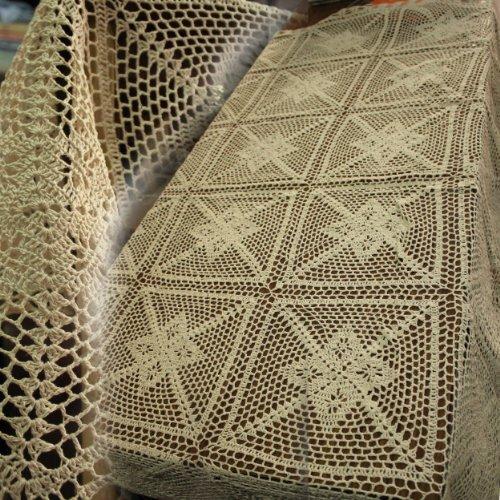 Copritavolo A Uncinetto.Crochet Round Table Cloth Amazon Co Uk Kitchen Home