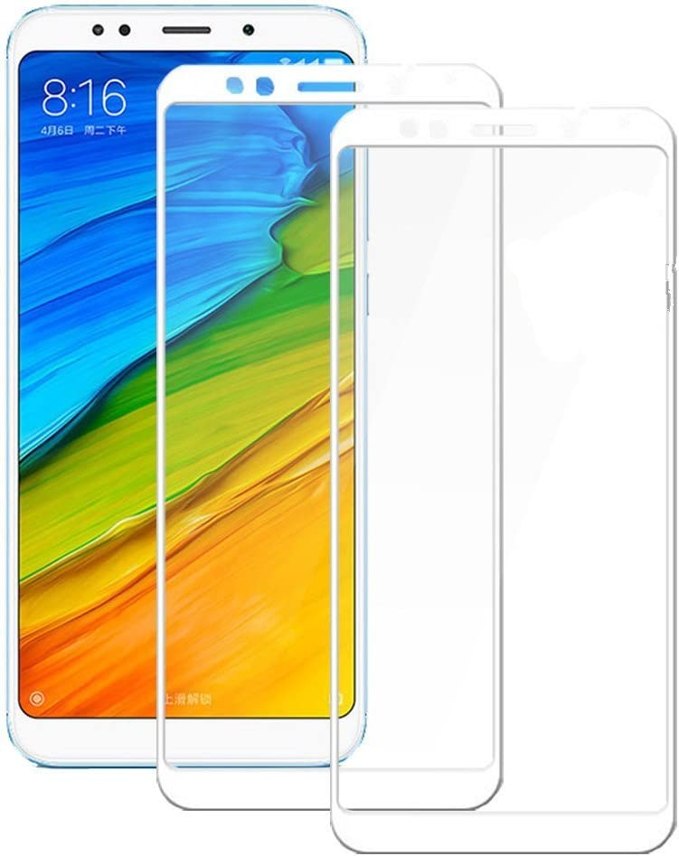 Electro-weideworld [2 Pack] Xiaomi Redmi 5 Plus Protector de Pantalla, 3D Pro-Fit Pantalla Completa Cristal Templado Pantalla Protectora para Xiaomi Redmi 5 Plus,Blanco