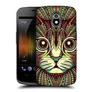 AIYAYA Samsung Case Designs Kitten Aztec Animal Faces Protective Snap-on Hard Back Case Cover for Samsung Galaxy Nexus I9250