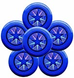 Discraft Ultra-Star 175g Ultimate Frisbee Sport Disc (6 Pack) Royal Blue