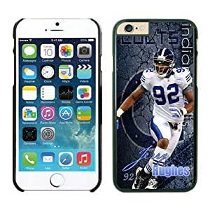 NFL Case Cover For Apple Iphone 6 Plus 5.5 Inch Indianapolis Colts Jerry Hughes Black Case Cover For Apple Iphone 6 Plus 5.5 Inch Cell Phone Case ONXTWKHB1954