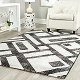 "Safavieh PRL3730B-8 Porcello Collection Black & Grey Area Rug, 8' x 11'2"""