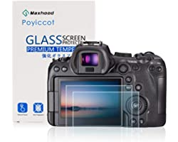 Poyiccot for Canon EOS R6 Screen Protector Tempered Glass, 2Pack 9H HD Scratch Resistant Camera Protective Film Tempered Glas