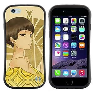 "Pulsar iFace Series Tpu silicona Carcasa Funda Case para Apple Iphone 6 Plus / 6S Plus ( 5.5 ) , Hombros Mujer Ojos marrones desnudo Sexy Arte"""