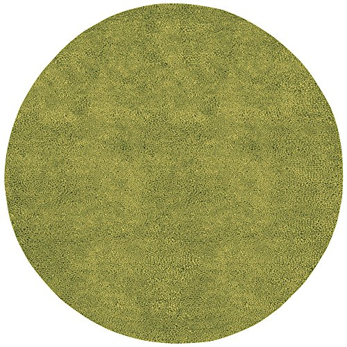 Round Moss Area 8 Rug - Surya Aros AROS-6 Shag Hand Woven 100% New Zealand Felted Wool Moss 8' Round Area Rug