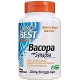 Doctor's Best Bacopa with Synapsa, Brain, Enhances Memory, Antioxidant, Non-GMO, Vegan, Gluten Free, Soy Free, 320 mg…