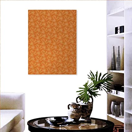 Amazon.com: Burnt Orange Modern Wall Art Living Room ...