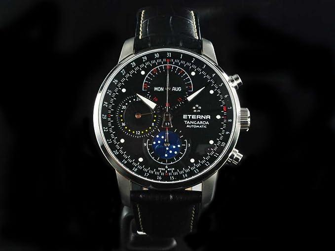 Reloj Eterna Tangaroa Chrono Fase Lunar -Automático- 2949.41.46.1261: Amazon.es: Relojes