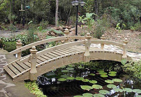 Garden Bridge - Low Rail Walkway - Low Bridge Rail Garden