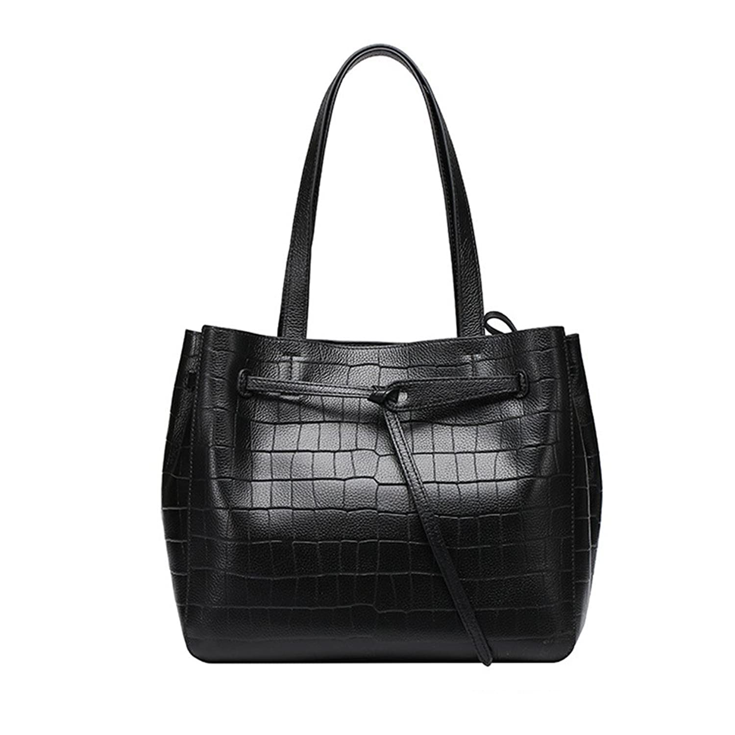 Sheli Beautiful Womens Classic Black Tone Real Leather Tote for Office Work