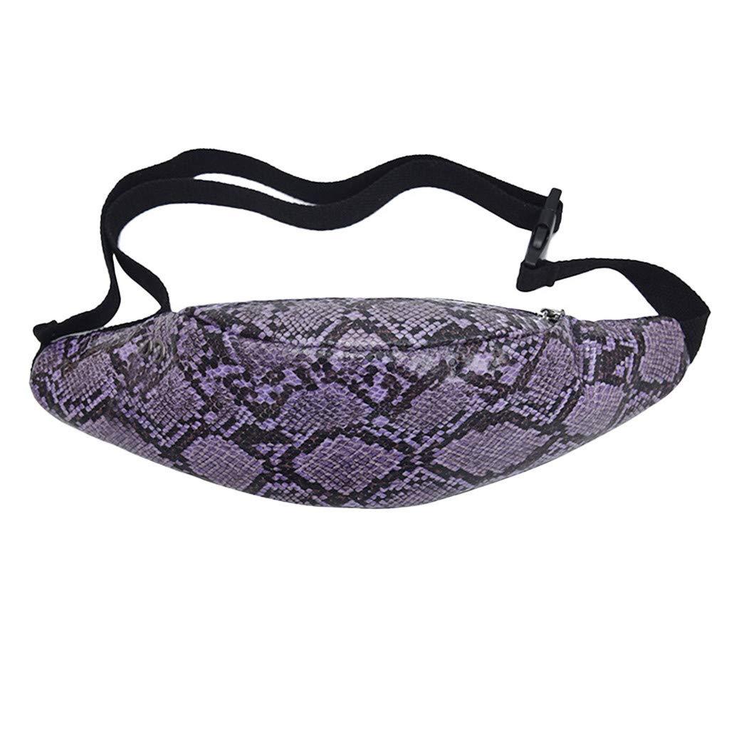 Vovotrade Stampa Serpente da Donna Outdoor Zipper Serpentine Stampa Sport Bag Petto Marsupio