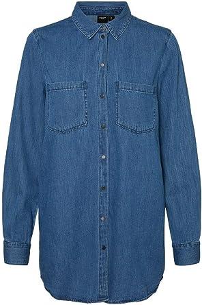 Vero Moda Vmmila LS Long Shirt Mix Ga Noos Blusas para Mujer