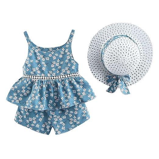 7bcef0a2f Baiomawzh Ropa Bebe Niña Verano 2019, bebé Recién Nacidos Tops ...