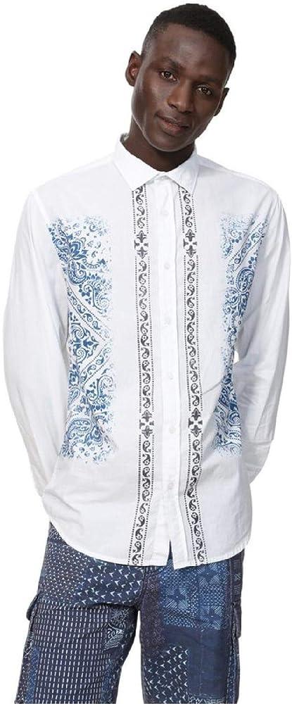 Desigual - Camisa Cayden Hombre Color: 1000 Talla: Size S: Amazon.es: Ropa y accesorios