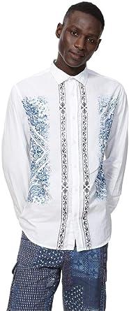 Desigual - Camisa Cayden Hombre Color: 1000 Talla: Size S ...