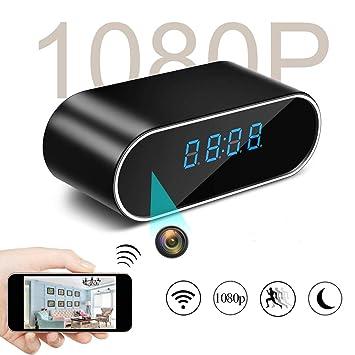 Cámara espía, KAMRE actualizado 1080P WiFi cámara oculta reloj grabadora de vídeo cámara IP inalámbrica