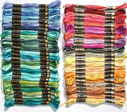 (30 multi color Cross Stitch Hand Embroidery Cross Stitch Threads Floss/skeins )