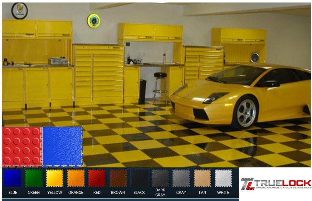 "high-quality TrueLock PVC Garage Floor Tile Coin 19 5/8""x19 5/8"" Gray"