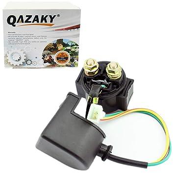 QAZAKY Starter Solenoid Relay Replacement for 50cc 70cc 90cc 110cc 125cc  150cc GY6 ATV Quad Scooter Go Kart Moped Chopper Pit Dirt Pocket Bike
