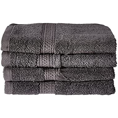 Cotton-Hand-Towels Gym-Towels SPA-Towels Grey 4-Pack - (16 x 28 inches) Ringspun Cotton for Softness and Absorbency - By Utopia Towels