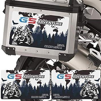 Maletas de Equipaje de Aluminio Pegatinas Deca for BMW R1200GS F850GS F800GS R1250GS R1150GS F750GS G310GS R 1200 GS Adventure F800 Mei Racing (Color : R)