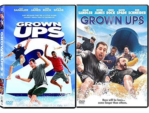 Grown Ups Double Feature DVD Comedy Double Kevin James & Adam Sandler Bundle Movie Set Grown Ups 1 & 2 by Dreamworks Video