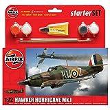 Airfix Hawker Hurricane Mk.I Starter Gift Set (1:72 Scale)