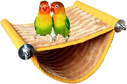 Winter Warm Bird Nest House Bed Hammock Toy for Pet Parrot Parakeet Cockatiel Conure Cockatoo African Grey Eclectus  Lovebird Budgie Finch Canary Hamster Rat Chinchilla Squirrel Cage Perch