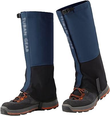 Lixada Gamaschen wasserdichte Verstellbare Anti-Riss Wandern Legging Gamaschen f/ür Schneeschuhwandern im Freien Wandern Skifahren