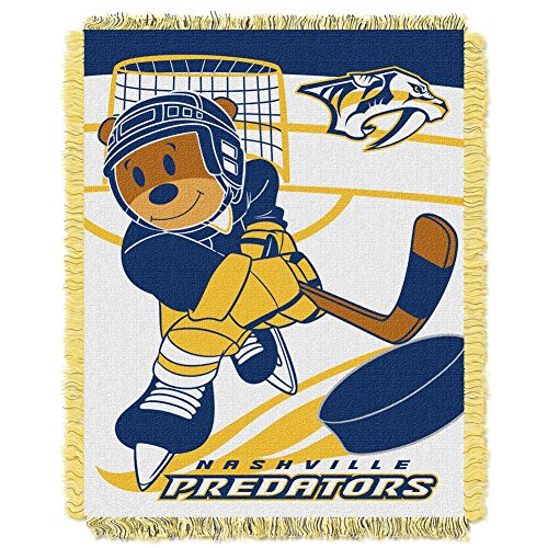 The Northwest Company Nashville Predators Baby Blanket Bedding Throw 36 x 46